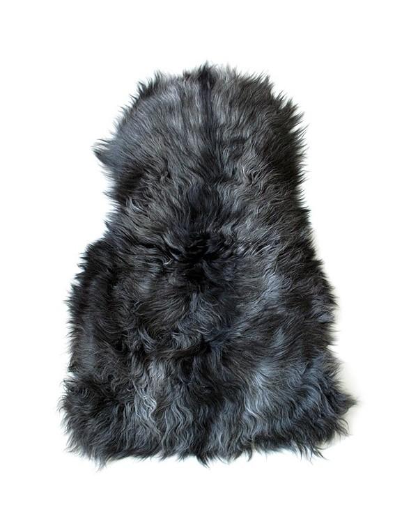 Sheepskin Rugs, Dark Grey Icelandic Sheepskin Rug 0121 , faux-fur-throws