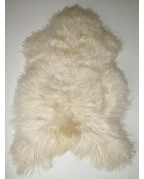 Sheepskin Rugs, Creamy White Icelandic Sheepskin Rug 0117 , faux-fur-throws