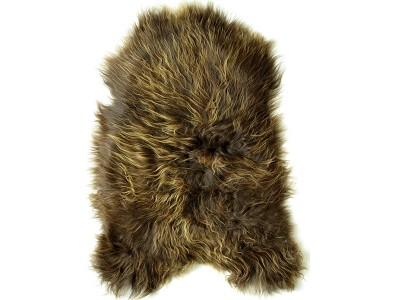Sheepskin Rugs, Rusty Brown Icelandic Sheepskin Rug 0107 , faux-fur-throws