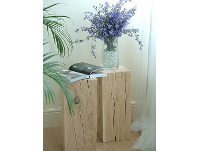 Oak Side Tables, Light Solid Oak Side Table , faux-fur-throws