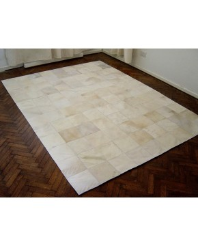 Ivory White Patchwork Cowhide Rug 463