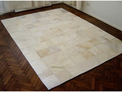Patchwork Cowhide Rugs, Ivory White Patchwork Cowhide Rug 463 , faux-fur-throws
