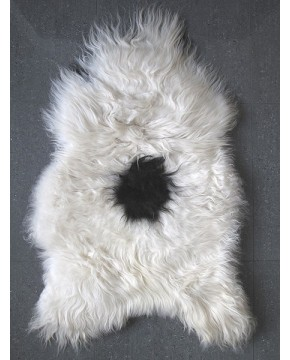Black & White Icelandic Sheepskin Rug 0138