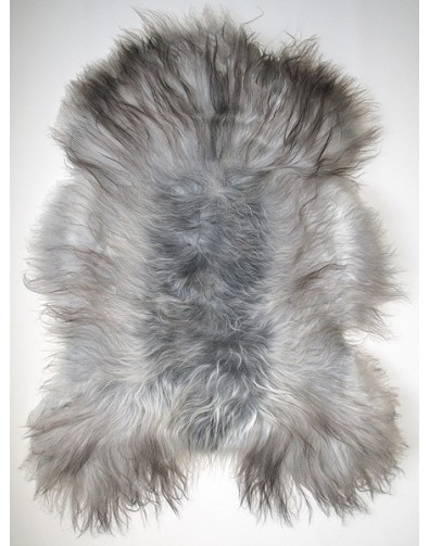 Two Tone Grey Icelandic Sheepskin Rug Grey Sheepskin Rugs