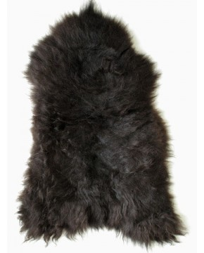 Sheepskin Rugs, Black Brown Icelandic Sheepskin Rug 0139 , faux-fur-throws