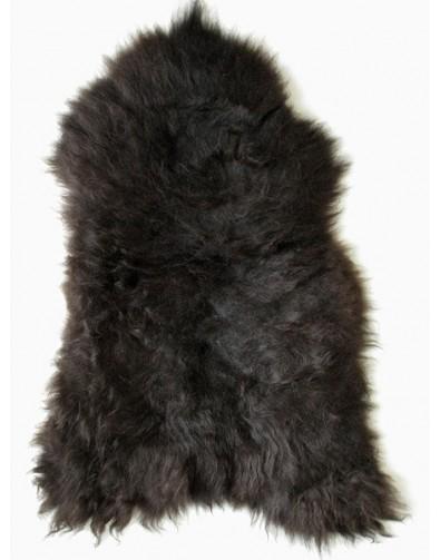 Sheepskin Rugs, Black Brown Icelandic Sheepskin Rug 0139 , faux-fur-throws