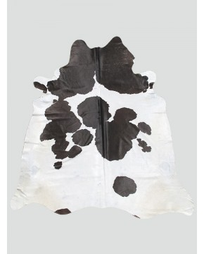 Extra Large Black White Cowhide Rug CH0012