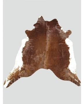 Extra Large Brown White Cowhide Rug CH0013