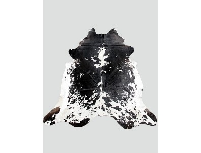 Cowhide Rugs, Large Black & White Cowhide Rug CH0015 , faux-fur-throws