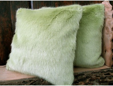 Faux Fur Cushions, Faux Fur Cushions Spring Willow , faux-fur-throws