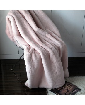 Richmond Pink Faux Fur Throw
