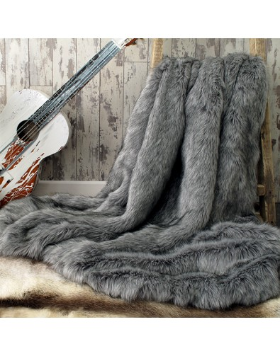 Faux Fur Throws, Grey Squirrel Faux Fur Throw , faux-fur-throws