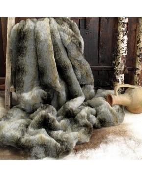 Faux Fur Throws, Grey Wolf Faux Fur Throw , faux-fur-throws