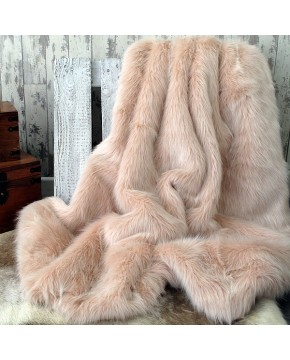 Candyfloss Faux Fur Throw