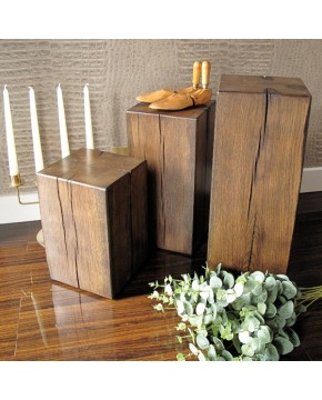 Dark Oak Lamp Tables Set of 3