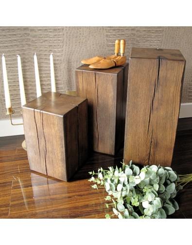 Dark Oak Lamp Tables Set of 3
