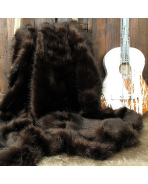 Faux Fur Throws, Brown Bear Faux Fur Throw , faux-fur-throws