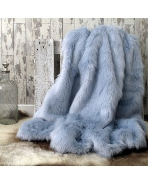 Faux Fur Throws, Baby Blue Faux Fur Throw , faux-fur-throws