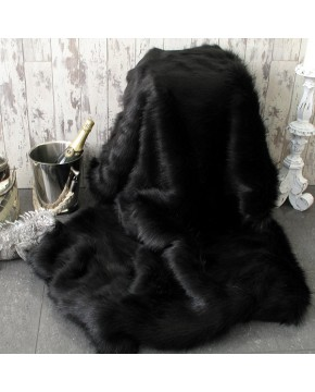 Black Bear Faux Fur Throw