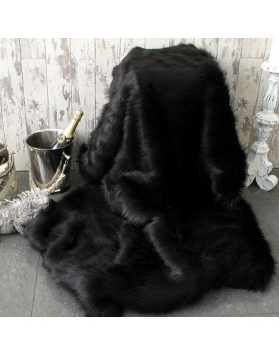 Faux Fur Throws, Black Bear Faux Fur Throw , faux-fur-throws